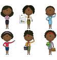 African American business lady vector image