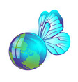 april 22 earth day world friendly small planet vector image