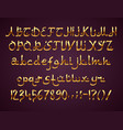 arabic style golden font on purple background vector image