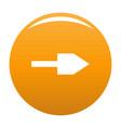 arrow icon orange vector image vector image