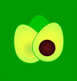 avocado cut in half icon vector image