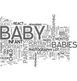 baby photography text word cloud concept vector image vector image