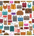 Bags colored seamless pattern vector image