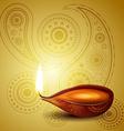 beautiful hindu diwali festival art vector image