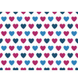 blue and purple heart shape pattern vector image