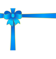 blue bow vector image vector image