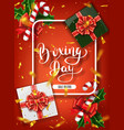 boxing day banner design lettering calligraphy vector image vector image