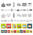 building repair flat icons in set collection for vector image vector image