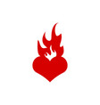 burning heart icon graphic design template vector image vector image