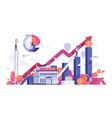 business people finance bank vector image vector image