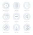business Set of flat design icons Line icons vector image