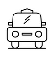 cab line black icon vector image vector image