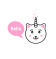 capricorn saying hi with bubble vector image