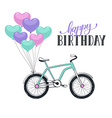 Cartoon bike with balloons vector image