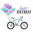 cartoon bike with balloons vector image vector image