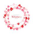 circle decoration garland red and pink hearts vector image vector image