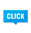 click price tag vector image vector image
