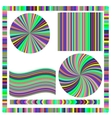 Colorful Frame and Circle vector image vector image