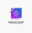 design app logo application design purple vector image vector image