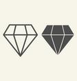 diamond line and glyph icon brilliant vector image