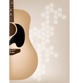 Elegance Guitars on Beautiful Brown Background vector image vector image