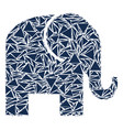 elephant collage of triangles vector image