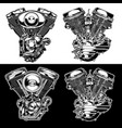 engine motorbike american black vector image vector image