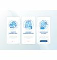 ergonomic stressors onboarding mobile app page vector image vector image