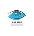 eye care logo design template vector image vector image