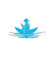 fishing kayak icon design template isolated vector image vector image