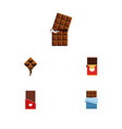 flat icon cacao set of bitter chocolate vector image vector image