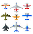 flying aircrafts collection various civil and vector image