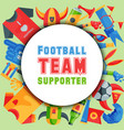 football team supporter round pattern vector image vector image
