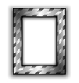 Frame for photo with diagonal lines Metal style vector image vector image
