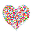 Funny colorful heart shape design