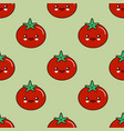 funny tomato character seamless pattern design vector image vector image