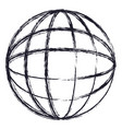 globe world icon in monochrome blurred silhouette vector image vector image