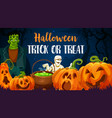 halloween pumpkins zombie and mummy vector image vector image