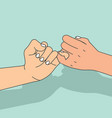hands hold promise vector image vector image