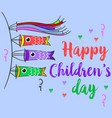happy children day theme style collection vector image vector image