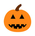 happy halloween pumpkin funny creepy smiling face vector image vector image