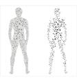 Human body molecular concept vector image vector image
