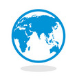icon of a globe for website or mobile application vector image