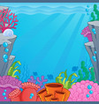 image with undersea topic 4 vector image
