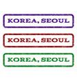 korea seoul watermark stamp vector image vector image