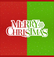 merry christmas typographic vector image vector image