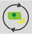 money convert transparent currency converter vector image vector image