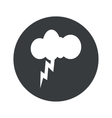 Monochrome round thunderstorm icon vector image vector image