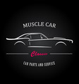 muscle car silhouette american classic sports car vector image vector image