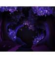 mystical dark forest vector image